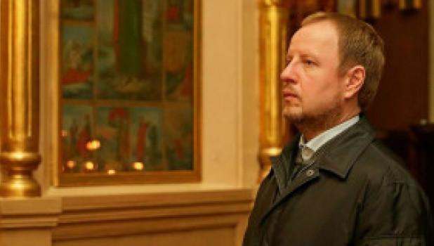 Виктор Томенко в Успенском кафедральном соборе.