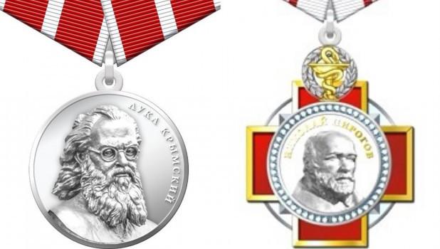 Орден Пирогова и медаль Лука Крымский.