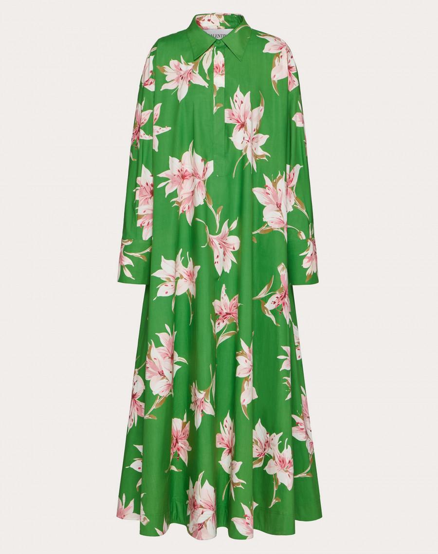 Вечернее платье с лилиями.