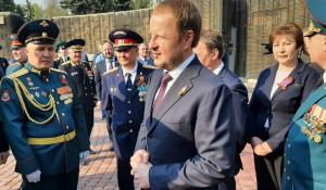 Виктор Томенко. Мемориал Славы в Барнауле. 9 мая 2021 года.