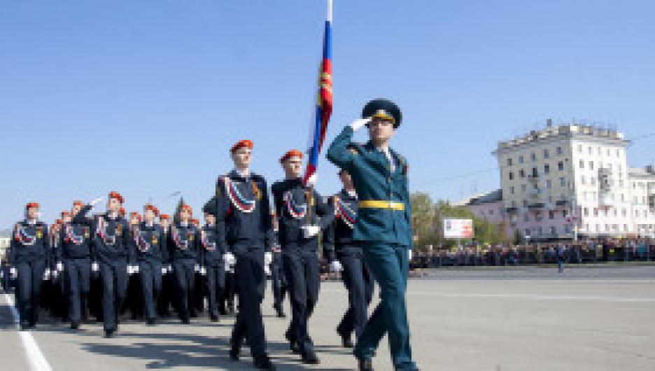 Парад Победы на площади Советов в Барнауле. 9 мая 2021 года