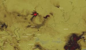 Карта концентрации СО.