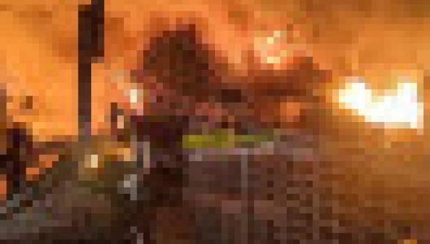 Пожар в Озерках.