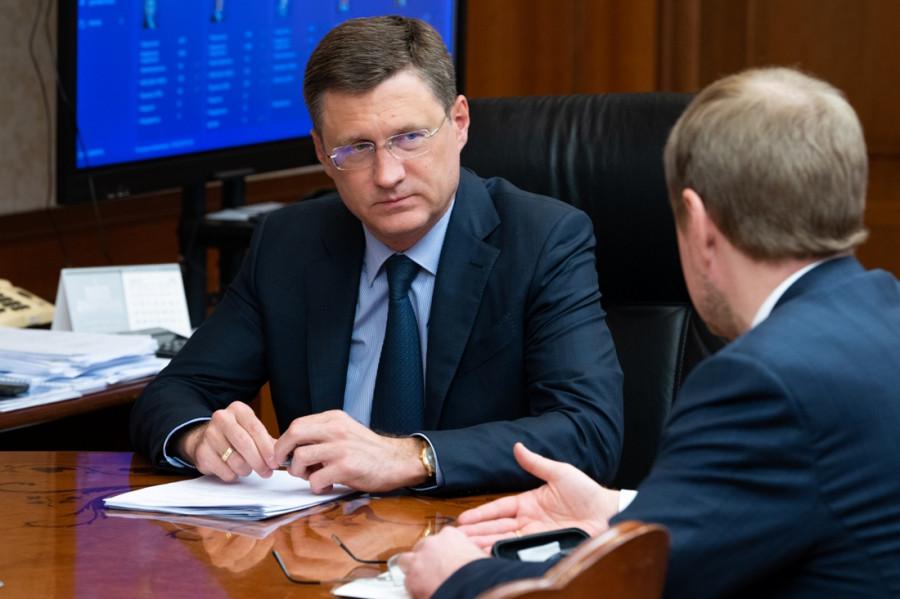 Александр Новак и Виктор Томенко.