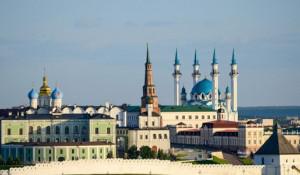 Вид на Казанский кремль.