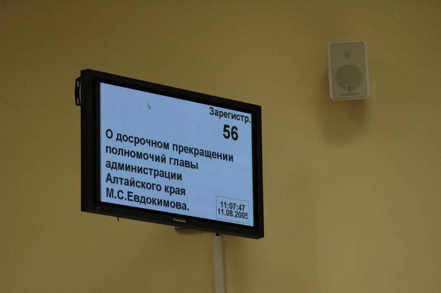 Депутаты голосуют о досрочном прекращении полномочий Михаила Евдокимова в связи с его гибелью.