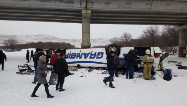 Авария с автобусом в Забайкалье.