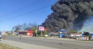 Взрыв АЗС в Новосибирске.