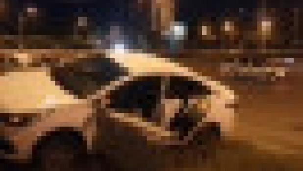 ДТП с участием автомобиля такси в Барнауле.