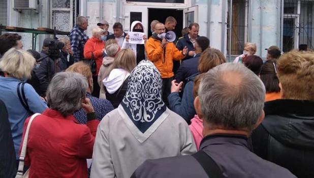 Собрание жителей сел Первомайского района по поводу экотехнопарка.