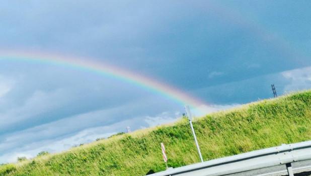 Двойная радуга над Барнаулом.