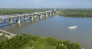 Ремонт Старого моста в Барнауле.