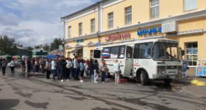Очередь на вакцинацию в Барнауле.