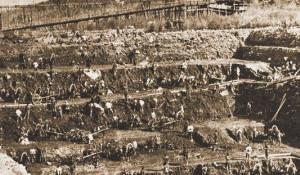 Добыча золота в Сибири.