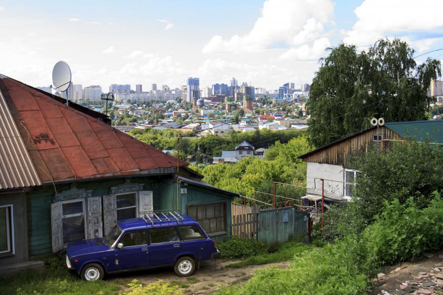 Нагорная часть Барнаула в районе ул. Аванесова.