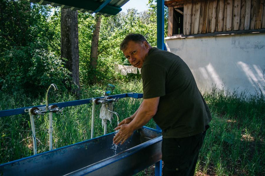 В фермерском хозяйстве Евгения Долгова.
