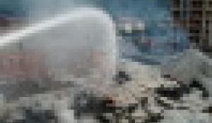 Пожар в Доме быта в Горно-Алтайске.