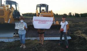Протест против строительства дороги в природном парке. Волгоградская область.