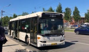 Автобус №53 в Барнауле.