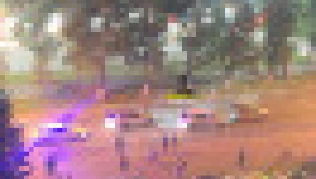 В Барнауле столкнулись элитные автомобили