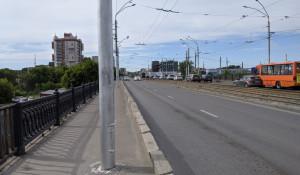 Коммунальный мост у Нового рынка в Барнауле.