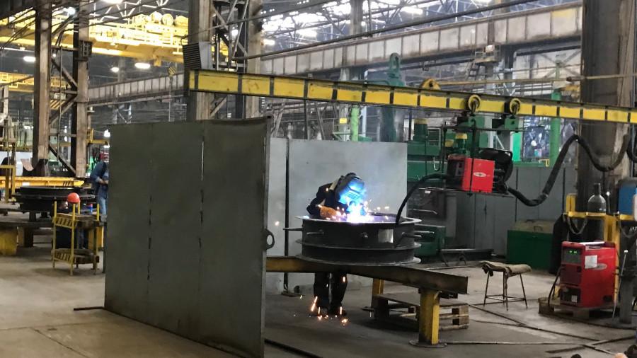 На котельном заводе, июль 2021 года.