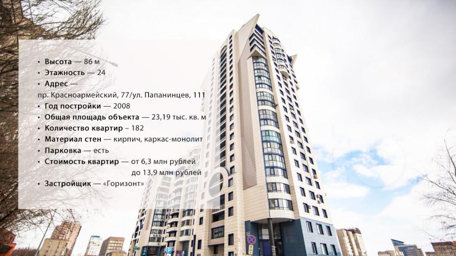 """ЖК """"Анастасия"""", построенный на пр. Красноармейский, 77/ул. Папанинцев, 111."""