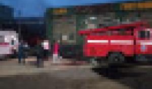 """Пожар в гостинице """"Космос"""" в Рубцовске."""