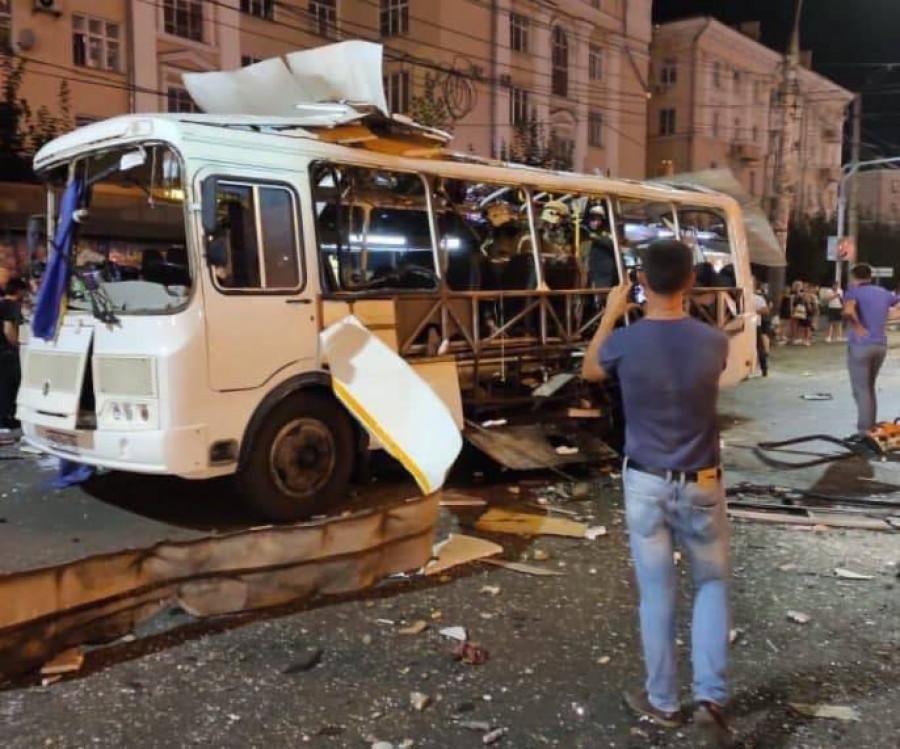 Взрыв рейсового автобуса в Воронеже.
