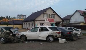 Авария возле ГИБДД.