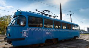 Обновленный московский трамвай.