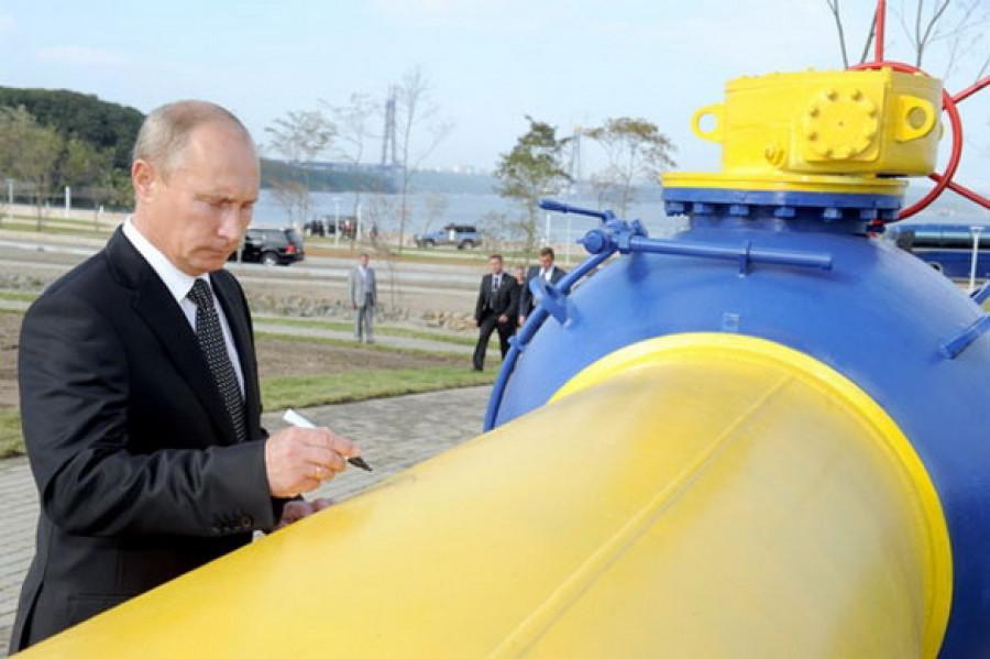 Владимир Путин на запуске газопровода. 8 сентября 2011г.