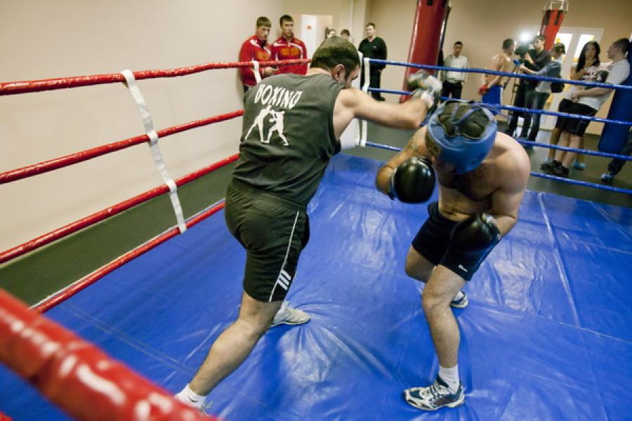 """Открытый спарринг в фитнес-центре """"Сафари"""". 21 ноября 2011 года."""