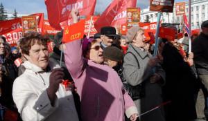Шествие коммунистов. 1 мая 2012 год, Барнаул.