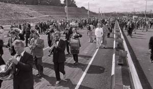 Открытие нового моста в Барнауле. 25 июля 1997 года.